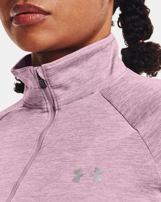 Women's UA Tech™ Twist ½ Zip, Pink, pdpMainDesktop image number 3