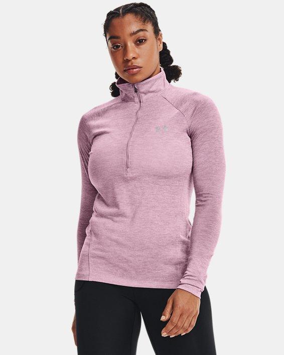 Women's UA Tech™ Twist ½ Zip, Pink, pdpMainDesktop image number 0