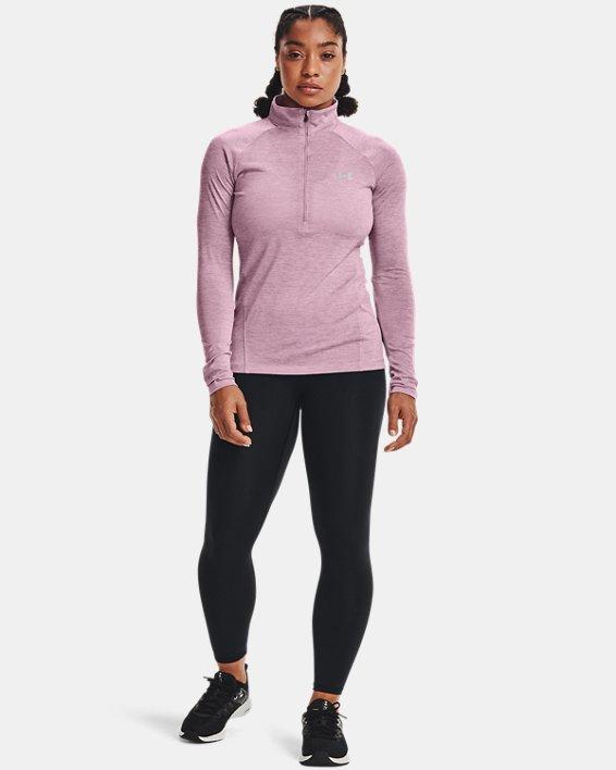 Women's UA Tech™ Twist ½ Zip, Pink, pdpMainDesktop image number 2
