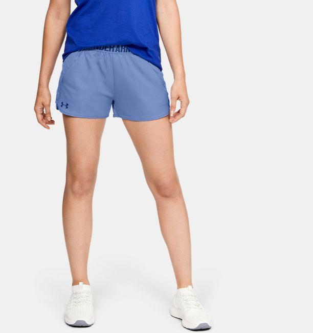 Women s UA Play Up Shorts Metallic  7aaff1138