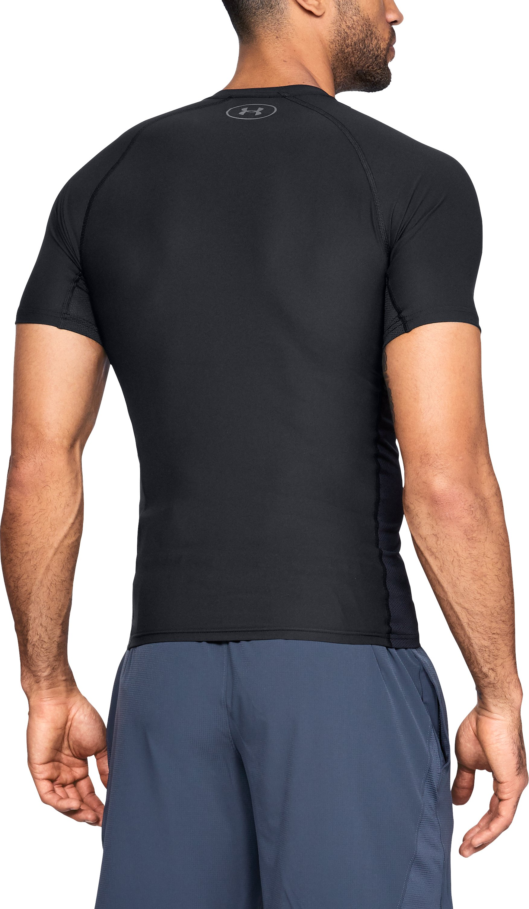 Men's UA Vanish Compression Short Sleeve, Black ,