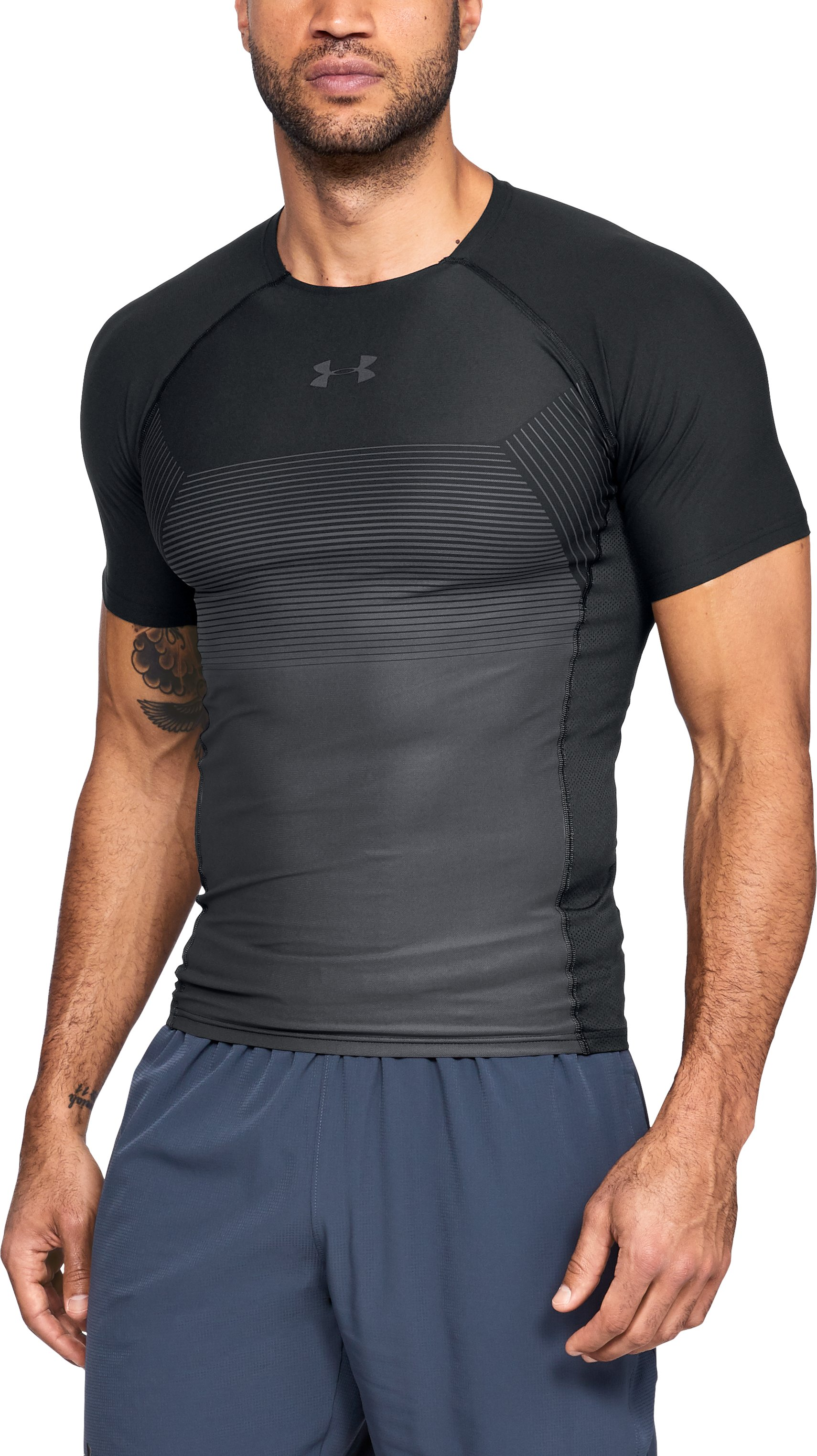 Men's UA Vanish Compression Short Sleeve, Black