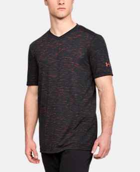 Men's UA Seamless V-Neck T-Shirt LIMITED TIME: FREE U.S. SHIPPING 4  Colors Available $39.99
