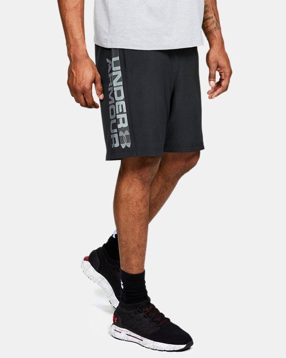 Herren Shorts UA Woven Graphic Wordmark, Black, pdpMainDesktop image number 0