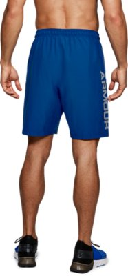 Under Armour 2021 Mens Woven Graphic Wordmark Lightweight Breathable Shorts
