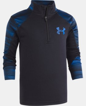 New Arrival Boys' Pre-School UA Speed Lines ¼ Zip Long Sleeve  1 Color $34.99