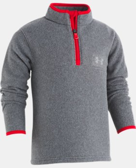 Boys' Pre-School UA Heathered Logo ¼ Zip Long Sleeve  1  Color Available $32.99