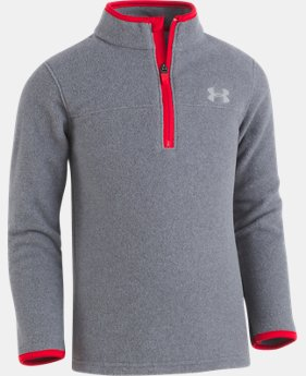 New Arrival Boys' Toddler UA Heathered Logo ¼ Zip Long Sleeve  2 Colors $32.99