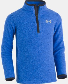 New Arrival Boys' Toddler UA Heathered Logo ¼ Zip Long Sleeve   $32.99