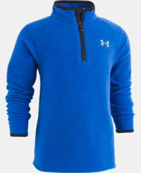 Boys' Toddler UA Heathered Logo ¼ Zip  1  Color Available $32.99