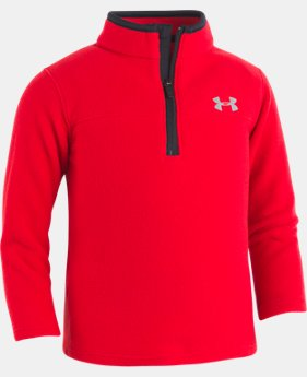 Boys' Pre-School UA Solid Logo ¼ Zip Long Sleeve  1 Color $32.99