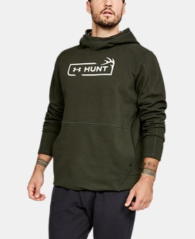 Men's UA Microthread Hunt Logo Hoodie  1  Color Available $60