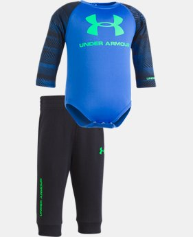 New Arrival Boys' Newborn UA Speedlines Core Jogger Set  1 Color $36.99