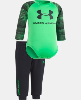 Boys' Newborn UA Speedlines Core Jogger Set  1  Color Available $27.74