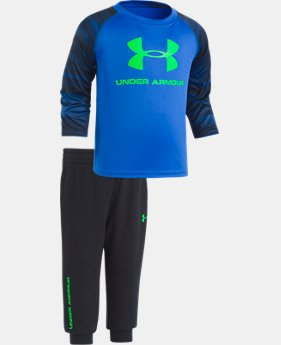 Boys' Infant UA Speedlines Core Jogger Set  1  Color Available $32.24