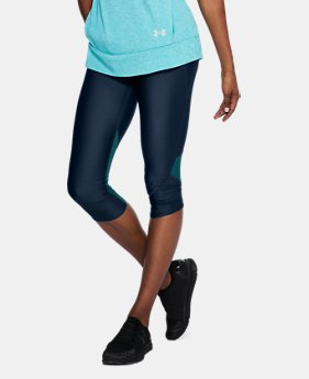 New to Outlet Women's UA Armour Fly Fast Capri  1  Color Available $41.25