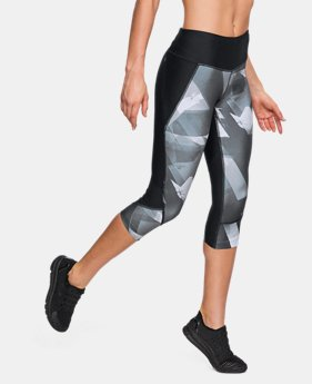 New Arrival Women's UA Armour Fly-Fast Printed Capri LIMITED TIME: FREE U.S. SHIPPING 2 Colors $60