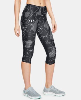 Women's UA Armour Fly Fast Printed Capri FREE U.S. SHIPPING 4  Colors Available $60