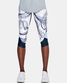 Women's UA Armour Fly Fast Printed Capri  1  Color Available $60
