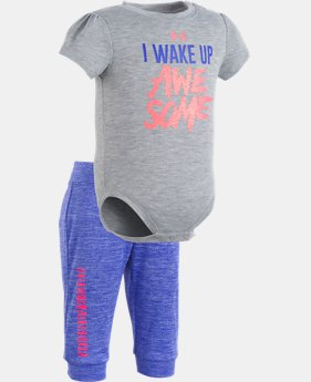 Girls' Newborn UA I Wake Up Awesome Set  1  Color Available $39.99