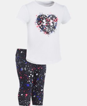 New Arrival Girls' Infant UA Heart Splatter Set  1 Color $34.99