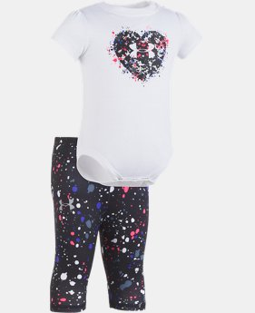 New Arrival Girls' Newborn UA Heart Splatter Set  1 Color $34.99