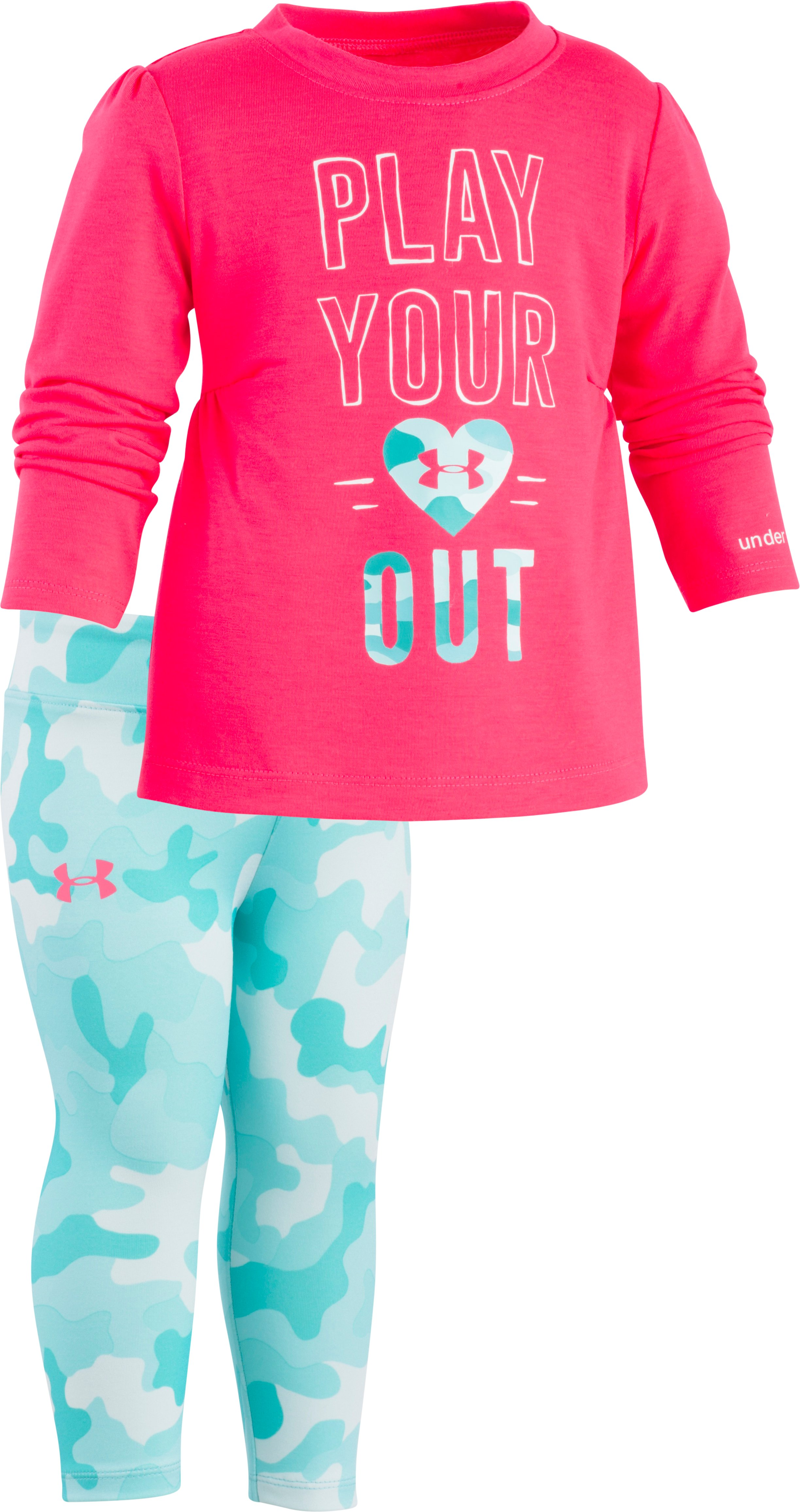 Girls' Infant UA Play Your Heart Out Set, Penta Pink, zoomed