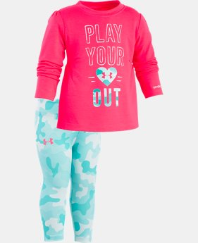 Girls' Infant UA Play Your Heart Out Set LIMITED TIME: FREE SHIPPING 1  Color Available $32.24