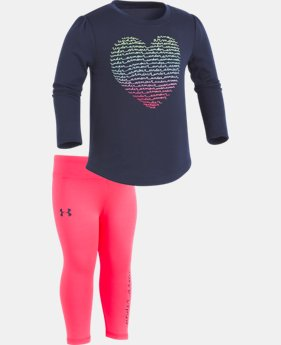 New Arrival Girls' Infant UA Script Heart Set  1 Color $34.99