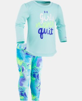 New Arrival Girls' Infant UA Girls Never Quit Set  1 Color $34.99