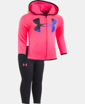 New Arrival Girls' Newborn UA Big Logo Hoodie Set  1 Color $42.99