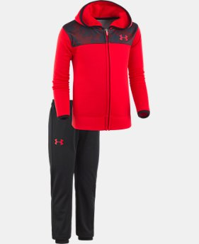 Boys' Pre-School UA Digital City Hoodie Track Set  1  Color $45.99