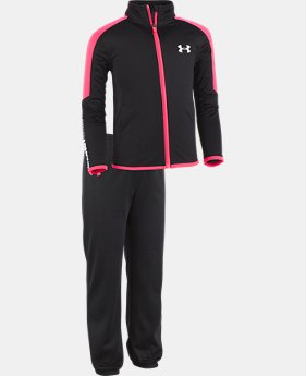 New Arrival Girls' Pre-School UA Boss Track Set  1 Color $42.99