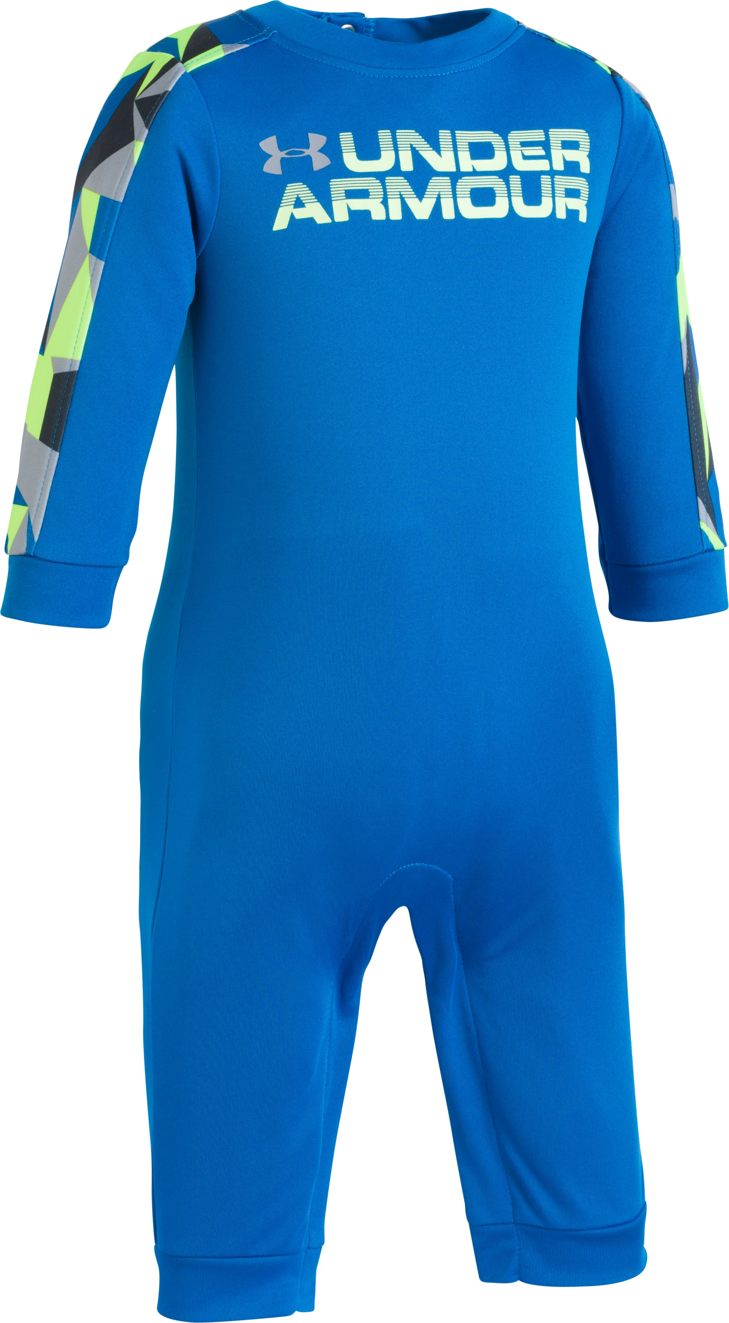 Geo Cache Coverall 12-24M, Cruise Blue, zoomed