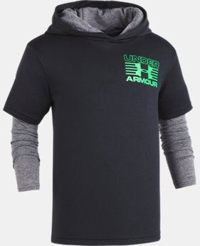 Boys' Pre-School UA Training Hoodie Slider  1  Color $32.99