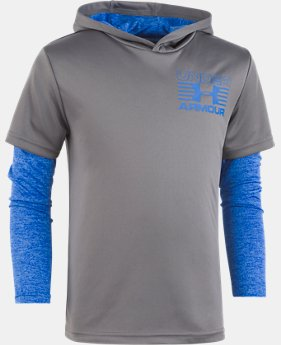 Boys' Pre-School UA Training Hoodie Slider  1  Color Available $32.99