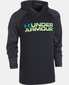 Boys' Pre-School UA Wordmark Twist Tech Hoodie  1  Color Available $37.99