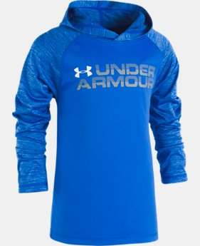 New Arrival Boys' Pre-School UA Wordmark Twist Tech Hoodie  2 Colors $32.99