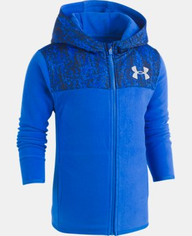Boys' Toddler UA Digital City Cozy Hoodie Full Zip  1  Color $49.99