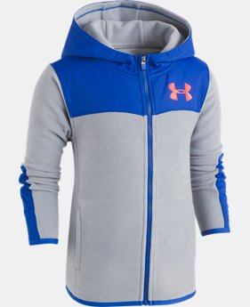New Arrival Boys' Pre-School UA Cozy Full Zip Hoodie  1 Color $45.99