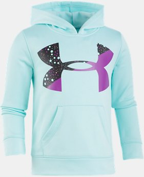 Girls' Pre-School UA Astro Dot Big Logo Hoodie  2 Colors $39.99