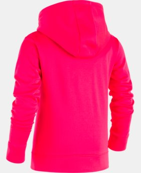 New Arrival Girls' Pre-School UA Astro Dot Big Logo Hoodie  1 Color $39.99