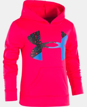 Girls' Pre-School UA Astro Dot Big Logo Hoodie  1 Color $39.99