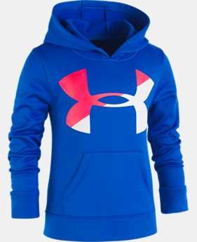 Girls' Pre-School UA Painted Streaks Big Logo Hoodie  1  Color Available $35.24