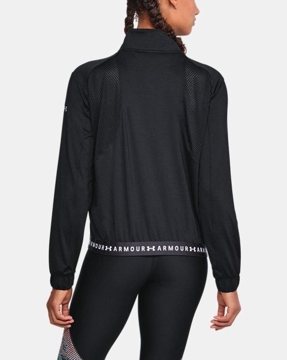 Women's HeatGear® Armour Full Zip, Black, pdpMainDesktop image number 2