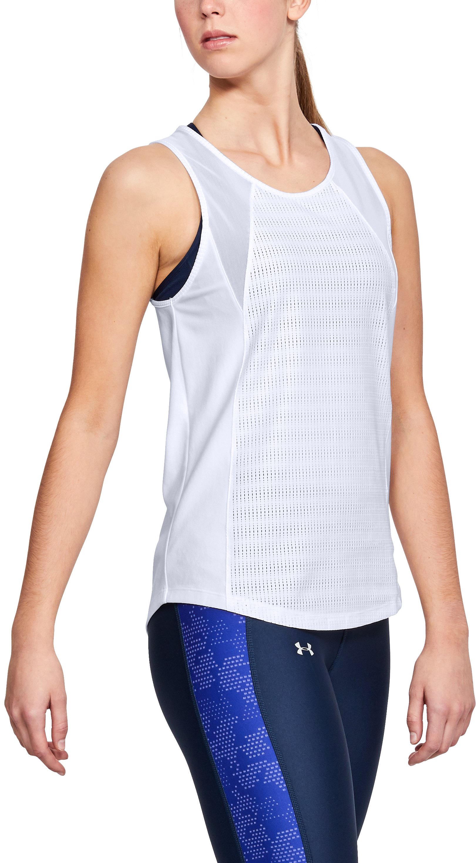 Women's UA Vanish Mesh Tank, White,
