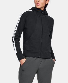 New Arrival Women's UA Cotton Ridge Fleece Full Zip Hoodie  1 Color $70