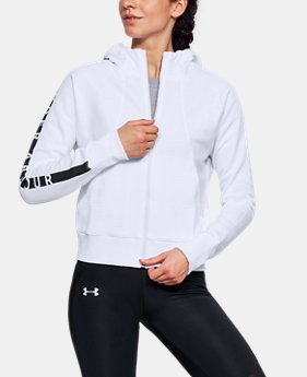 Women's UA Cotton Ridge Fleece Full Zip Hoodie  1 Color $70