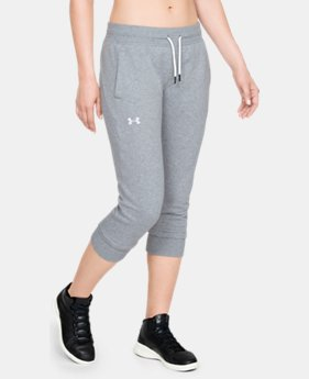 Women's UA Slim Leg Fleece Crop  1  Color Available $60