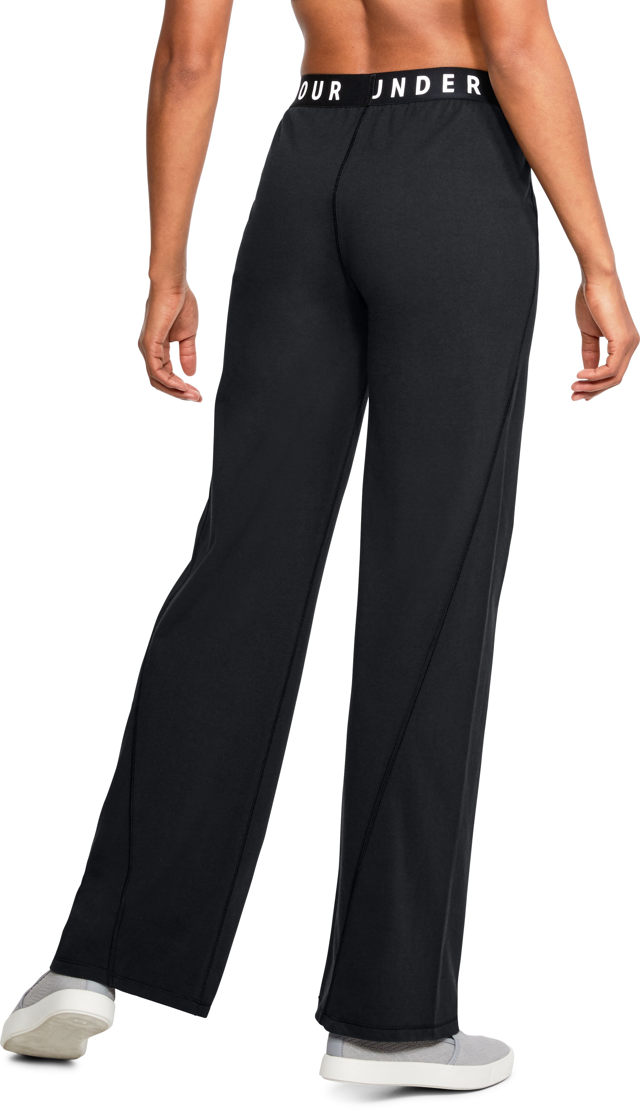 Women's UA Favorite Wide Leg Pants, Black ,